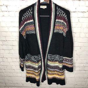 Knox Rose Boho Fuzzy Duster Cardigan Sweater